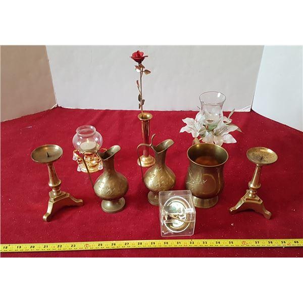 Lot Of Vintage Brass Décor