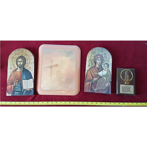 Lot of 4 Religious Wall - Hangings