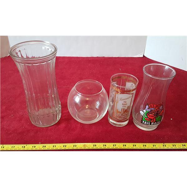 Lot of Glassware - Vases Etc.
