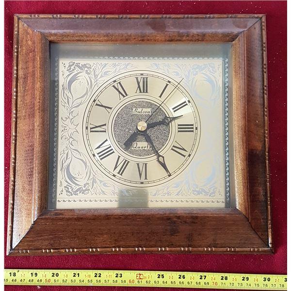 Bulova Wall Clock Wood Frame