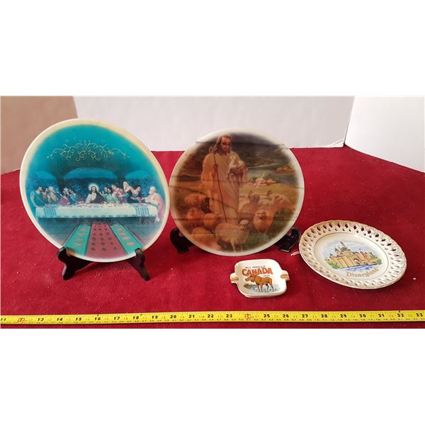 Lot of Decorative Plates - 2 With Stands