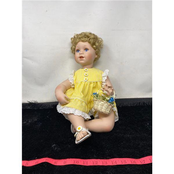 """""""The Ashton-Drake Galleries"""" Vintage Yellow Doll"""
