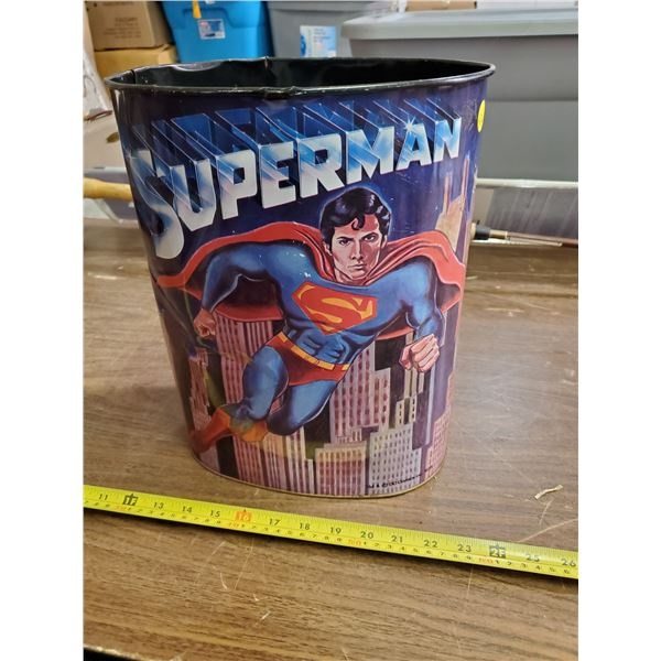 ORIGINAL 1978 DC COMICS SUPERMAN GARBAGE CAN
