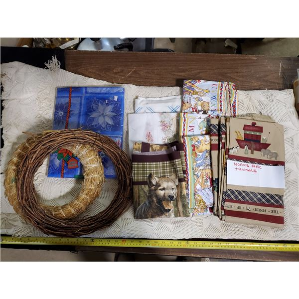 LOT OF HOME CRAFTING MATERIALS & FABRIC