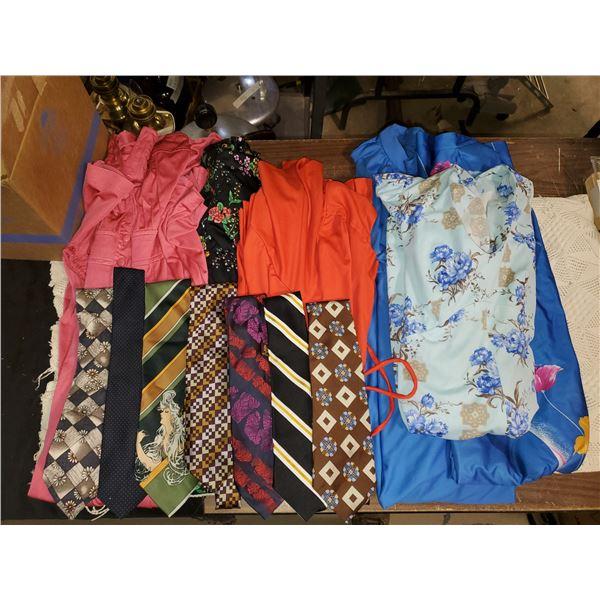 BOX OF DRESSES & TIES
