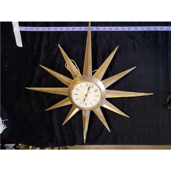 INGRAHAM STARBURST CLOCK - WORKING