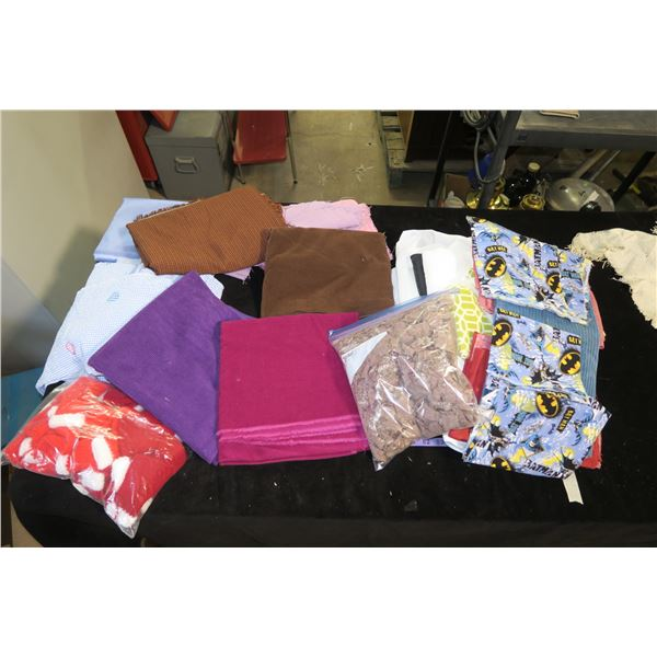 Box Of Misc. Fabric & Crafting material