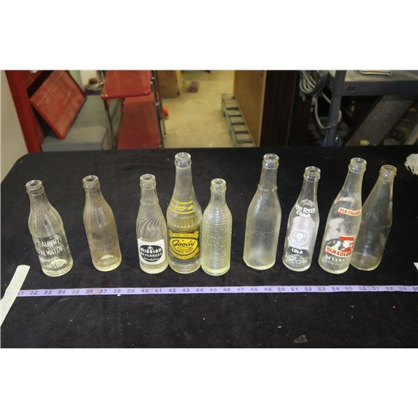 Prince Albert Mineral Water Bottles & Other Misc. Glass Soda Bottles