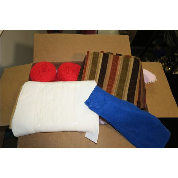 Lot of Misc. Fabric & Material