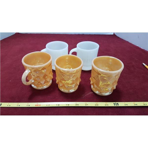 5 Fire King Mugs