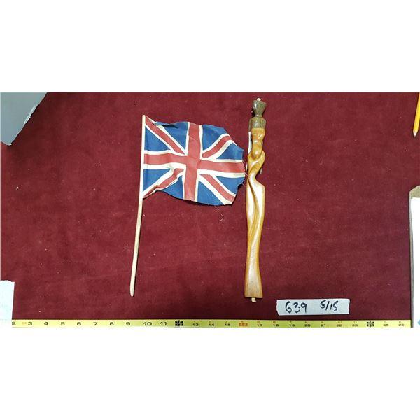 Flag & Wood Figure
