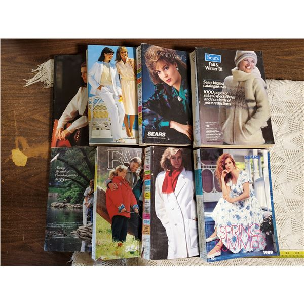 8 SEARS CATALOGUES 1981, 82, 86, 87, 89
