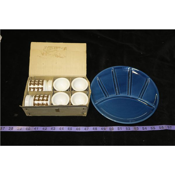 Salt & Pepper + Egg Cup set & Made in Japan Plate