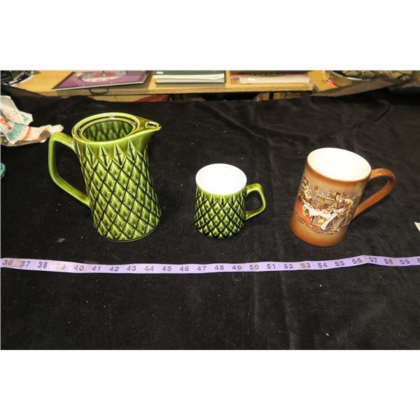 Matching Pitcher & Mug + 1 Mug