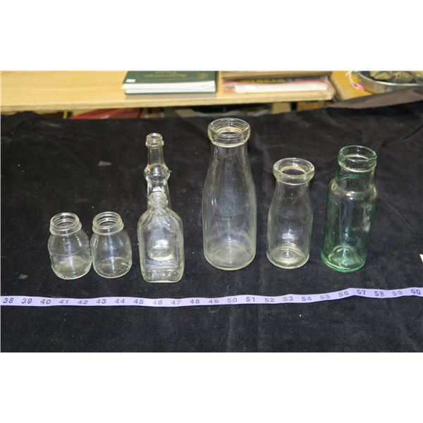 Vintage Milk Bottles & misc. Bottles