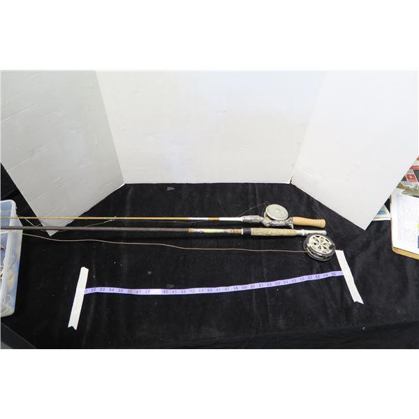 2 Vintage Fishing Rod/Reels