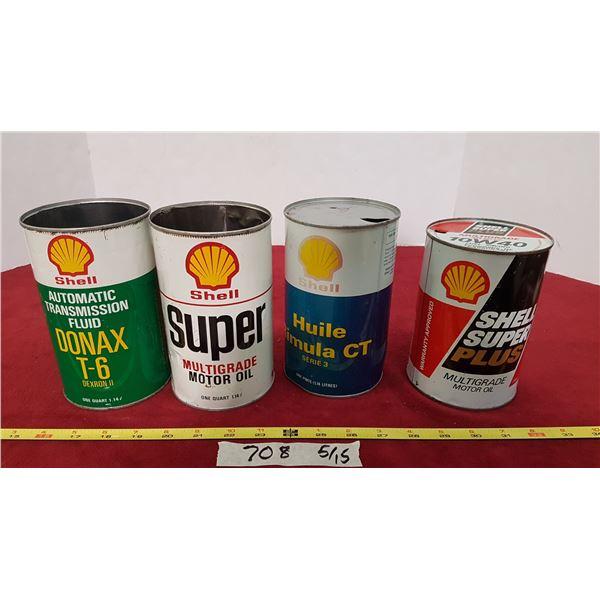 4 Shell Tins