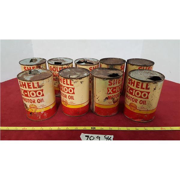 9 Shell Tins