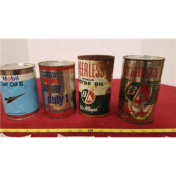 4 Oil Tins