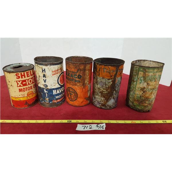 5 Oil Tins