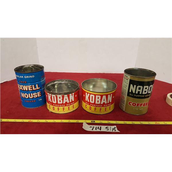 4 Coffee Tins