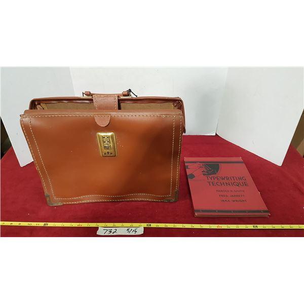 Vintage Briefcase & Book