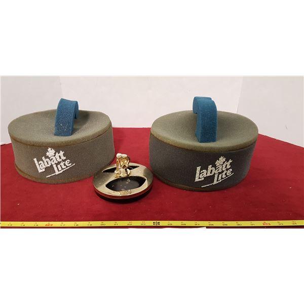 Curling Rock Hats & Ashtray