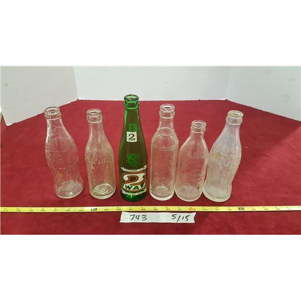 Lot Vintage Pop Bottles