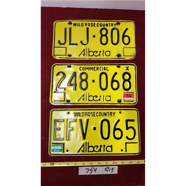 3 Alberta Plates 76 , 84
