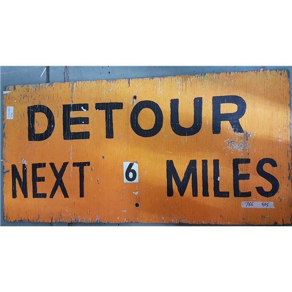 """Detour Sign 48"""" X 24"""""""