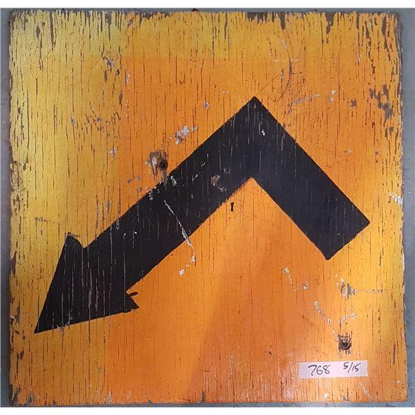 """Detour Sign 24"""" X 24"""""""