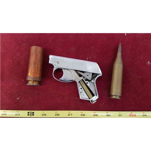 Starter Pistol & Used Brass Cartridges