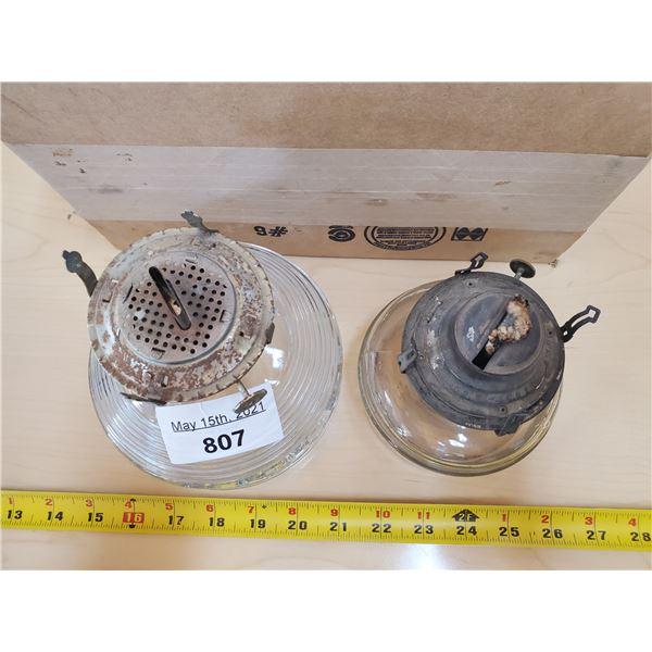 2 coil oil lamp bases