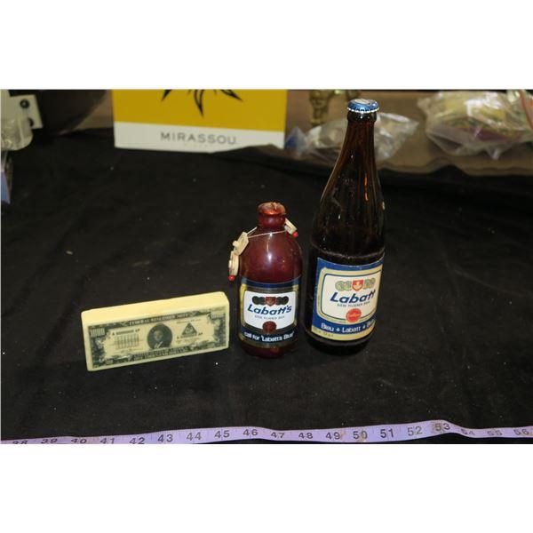 Labatt's Blue bottle + Labbat's Candle & $1000 Soap