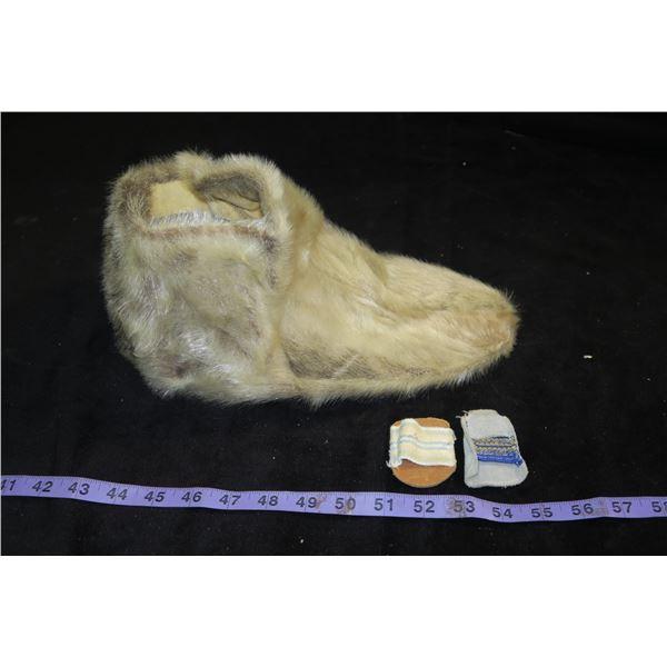 Hide Slipper & 2 Leather Finger Covers