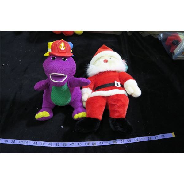 Fireman Barnie & Ty Santa