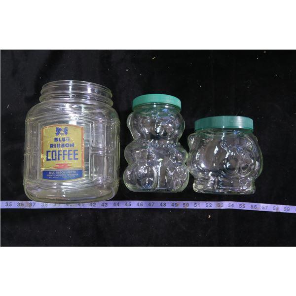 Blue Ribbon Jar & Peanut Butter Bear Jar