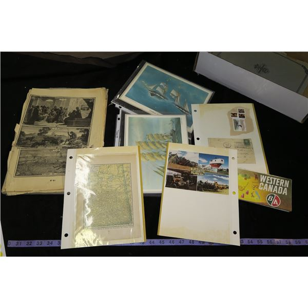 Lot of Vintage Picture/Papers/Book
