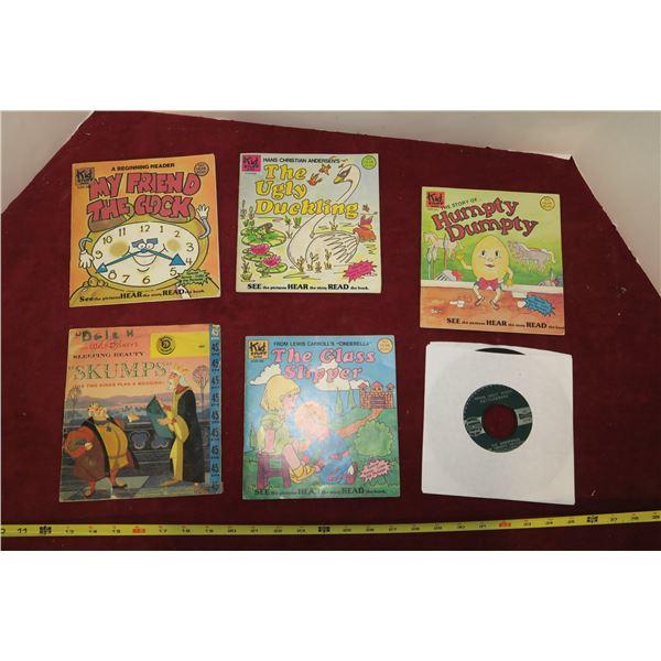 Lot of Vintage Kids Records & Books