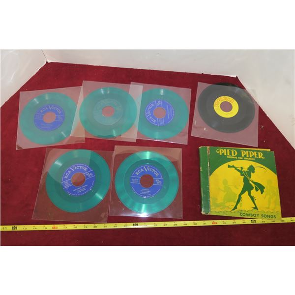 Lot of Misc.  45 RPM Kids Records & Pied Piper