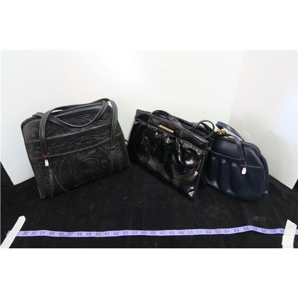 3 Purses/Handbags, 1 Leather