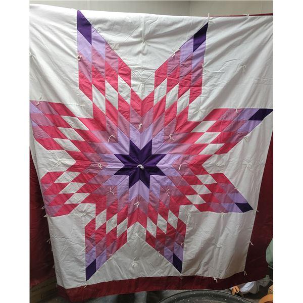 """Star blanket quilt 80"""" X 74"""""""