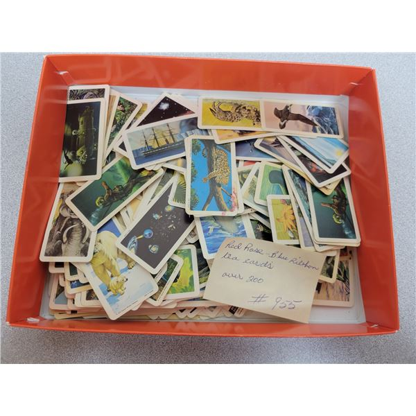 Box of Red Rose - Blue Ribbon tea cards over 200
