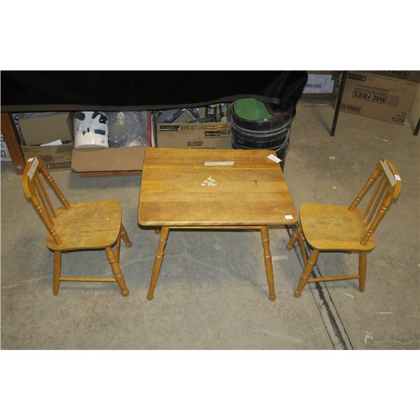 Children's table, 2 chairs