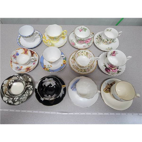12 cups & saucers