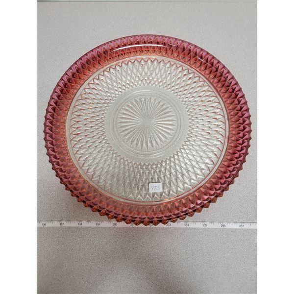 Large tray diamond point ruby edge