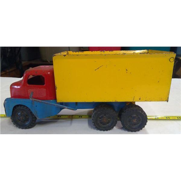 """Vintage Husky Tandem Dump Truck 12"""""""