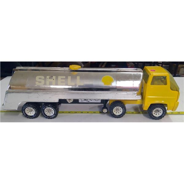 Tonka Shell Oil Tanker Transport Truck