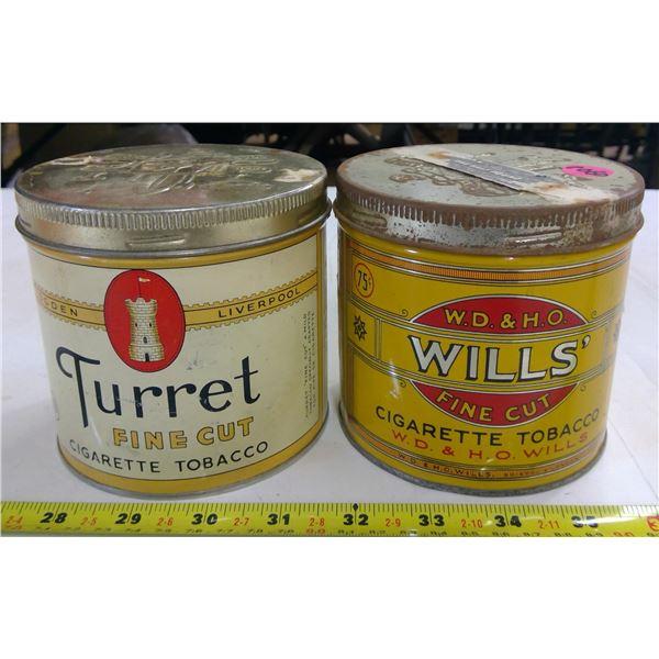 2 - Vintage Tobacco Tins