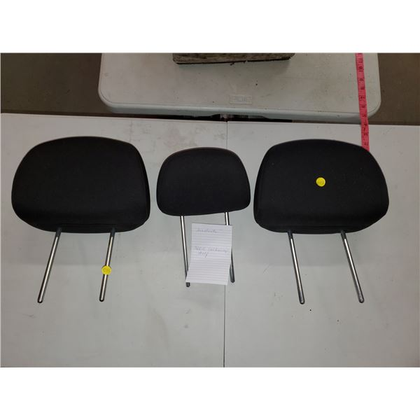 3 headrests from a 2002 VW Golf